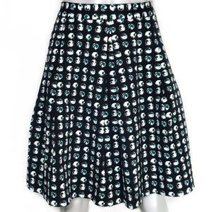 {banana republic} patterned pleated skirt